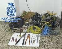 Detenidos dos individuos a los que se les imputan presuntamente 20 robos de cobre en Yecla