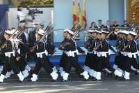 Pedro Sanz asiste este domingo en Madrid al desfile del 12 octubre
