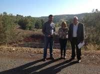La Junta acaba los trabajos para instalar la nueva escollera del dique de la mina 'Los Alemanes' en Linares