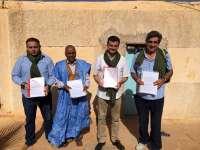Maíllo participa en Tinduf en la entrega de una denuncia contra el Gobierno español por la venta de armas a Marruecos