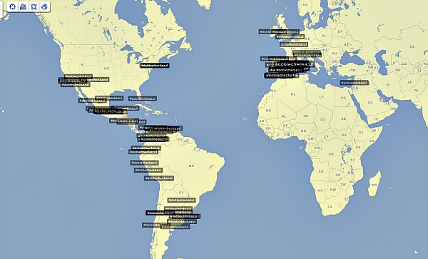 Hashtag #docblecheckazul en Trendsmap.