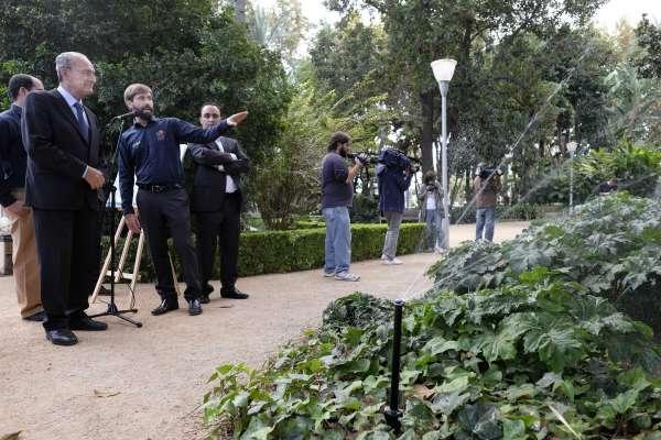 El Parque de Málaga cuenta con un sistema de riego inteligente, que permitirá ahorrar más de 21.000 euros al año