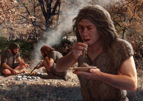 <p>La alimentación neandertal</p>