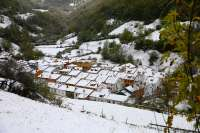 La nieve obliga al uso de cadenas en seis puertos asturianos