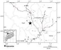 Registran un terremoto de 2,8 grados en el Pallars Sobirà que no ha causado daños