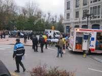 Al menos siete atropellados en la plaza de la Escandalera