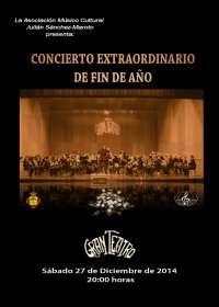El Gran Teatro de Manzanares (Ciudad Real) acoge el concierto extraordinario de fin de año este sábado