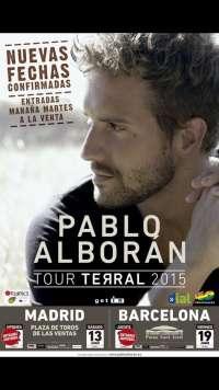 Pablo Alborán anuncia más conciertos en Madrid y Barcelona tras agotar entradas