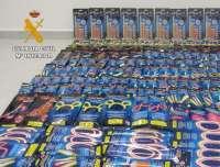 La Guardia Civil de Menorca retira 1.296 productos falsificados y juguetes peligrosos