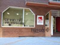 IU-Verdes denuncia pintadas neonazis en su sede regional de Murcia