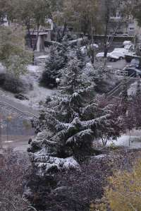 La estación meteorológica de Kapildui, en el punto más elevado de los Montes de Vitoria, registra 6,8 grados bajo cero