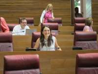 Mónica Oltra, la diputada de las Corts con más iniciativas presentadas en 2014, hasta 4.670