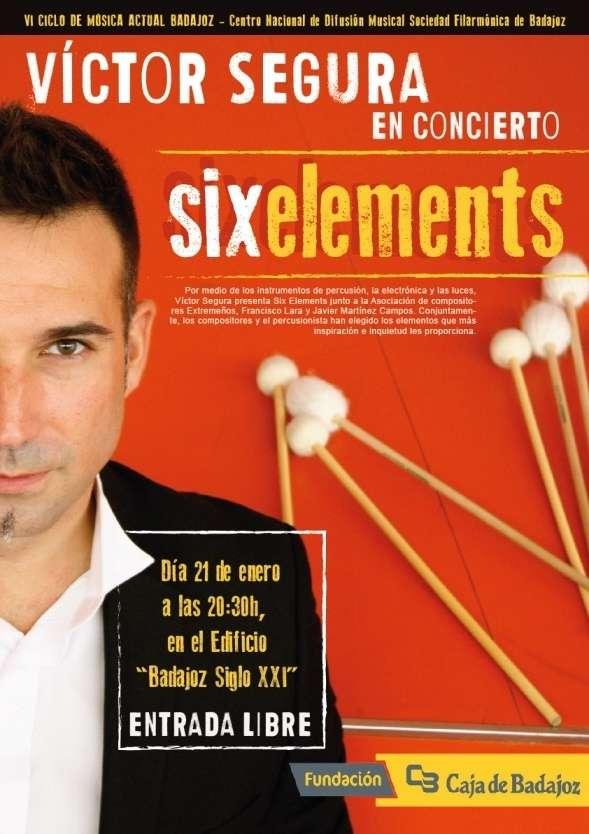 El percusionista Víctor Segura clausura el VI Ciclo de Música Actual de Badajoz
