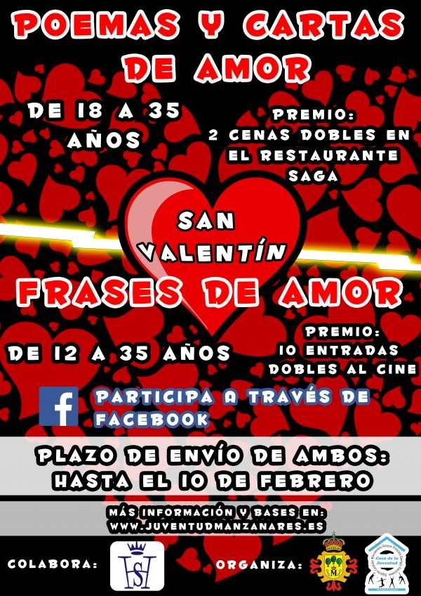 Manzanares Ciudad Real Convoca Un Concurso De Frases De Amor Y