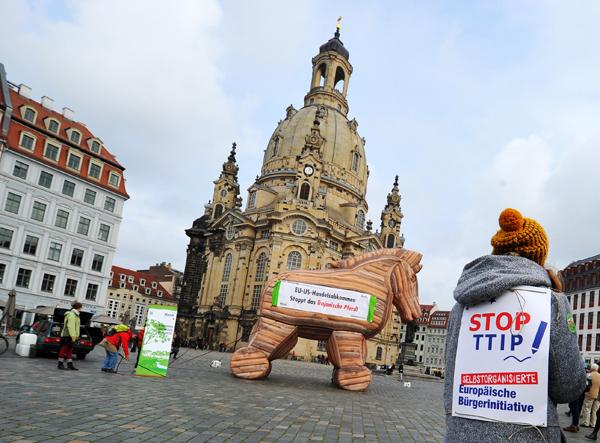 <p>Protesta contra el TTIP</p>