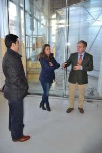 Diputación destaca que el mercado de abastos y el CIE dinamizarán el casco antiguo de Peñarroya-Pueblonuevo
