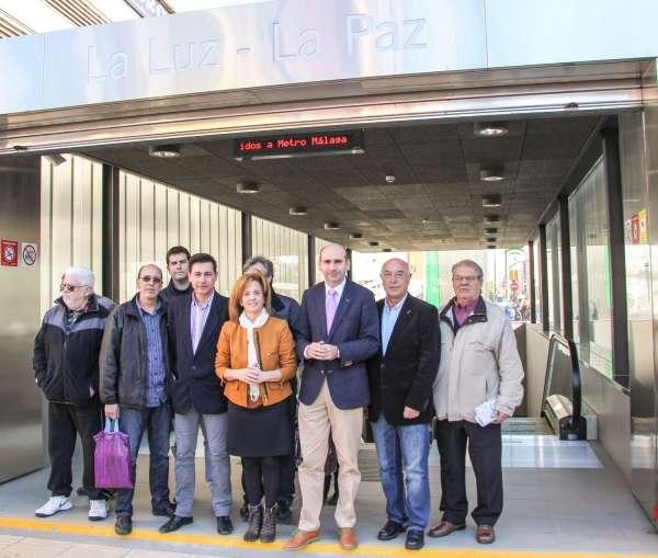 PSOE dice que Díaz tiene compromiso con el metro y pide a De la Torre que mantenga el acuerdo institucional