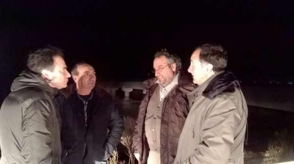 De Pedro (CHE) se reúne con alcaldes de Novillas, Pradilla y Boquiñeni para informar sobre la crecida del Ebro