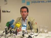 Sémper (PP) dice que la responsabilidad en lo ocurrido en Kutxabank es de quien toma decisiones, no de quien te lo pide