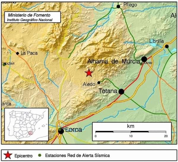 Más de un centenar de llamadas por un terremoto de 2,7 grados y una réplica de madrugada en Lorca