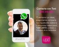 UPyD pone a disposición de los ciudadanos un teléfono para contactar por WhatsApp con Cantó