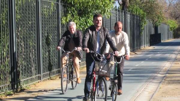 Maíllo promete extender el Plan Andaluz de la Bicicleta a todas las ciudades de más de 20.000 habitantes