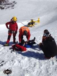 Rescatado un hombre que resultó herido tras caerse cuando practicaba esquí de travesía en León