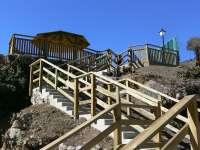 Inauguración de las escaleras de las pozas termales en Arnedillo