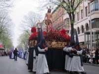 Las cofradías de Bilbao, satisfechas con el balance de Semana Santa en la que solo una procesión se tuvo que suspender