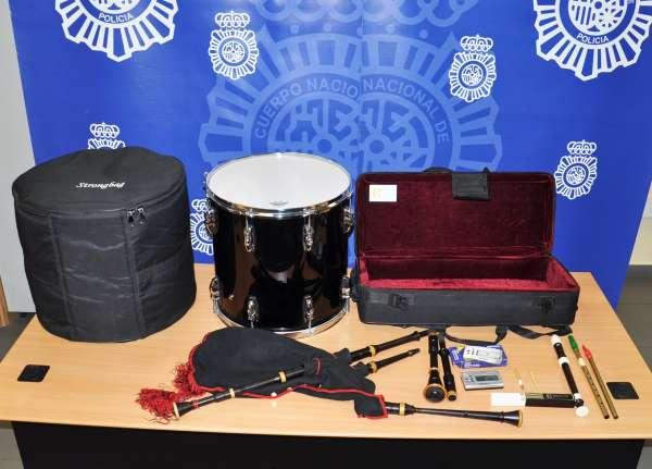 Tres detenidos en Valladolid por robar de un vehículo instrumentos musicales de Semana Santa