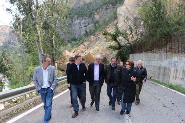 Puig pide al Consell un plan de ayudas a los vecinos de Cortes para evitar el