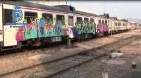 Sucesos-Detenidos 17 grafiteros por causar daños valorados en 465.000 euros en trenes, vagones y estaciones ferroviarias