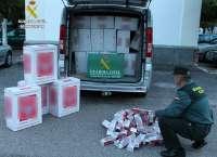 Detenido un hombre tras intervenir 18.378 cajetillas de tabaco de contrabando