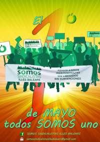 Somos Sindicalistas Baleares presenta este jueves su proyecto sindical