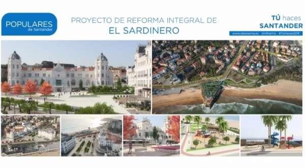 El PP defiende su proyecto para revitalizar El Sardinero de las críticas del PRC