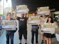 'Juntes sense por' denuncia expedientes sancionadores a seis asistentes a una manifestación contra la 'Ley Mordaza'