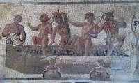 Hallado en Écija un nuevo mosaico romano de 40 metros cuadrados que gira en torno a amores de Zeus