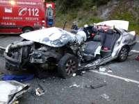Sucesos.- Un herido grave en un accidente de tráfico ocurrido en la carretera N-121-A, a la altura de Bera