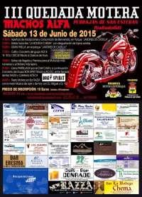 Pedrajas (Valladolid) acoge el 13 de junio la III Quedada Motera 'Machos Alfa'