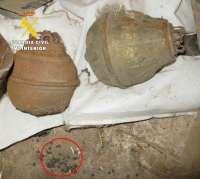 Destruidas en un pueblo de Burgos dos granadas de mano tipo 'Bola de Lámpara' de la Guerra Civil