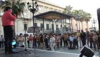 Cruz participa en la marcha del Orgullo LGTB y reclama tolerancia para la orientación sexual de los onubenses