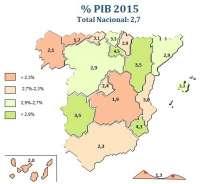 Asturias (1,7%), a la cola en las previsiones de crecimiento del PIB regional para 2015