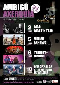 Cultura.- Mad Martin, Orient Express, Trilogy y Jorge Salán actúan desde este jueves en Ambigú Axerquía
