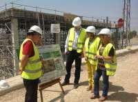 Las obras de la depuradora de aguas residuales de Úbeda alcanzan el 66 por ciento de su nivel de ejecución