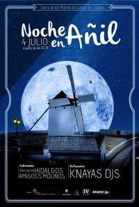 Este sábado habrá una nueva edición de 'La noche en añil' en la Sierra de los Molinos de Campo de Criptana (Ciudad Real)