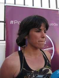 Teresa Rodríguez contesta a Jiménez que el PSOE en Aragón y Valencia aplicará