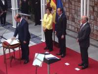 Pedro Antonio Sánchez jura su cargo de presidente de un Gobierno