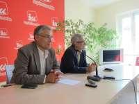 Llamazares llama a Podemos a incorporarse al pacto con el PSOE, refrendado por la militancia de IU