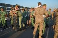 Familiares reciben a miembros de la tercera rotación del contingente de la Legión en misión 'Apoyo Irak'