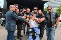Más de 200 moteros aragoneses se suman a la campaña de los SIN Riders